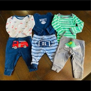 Newborn Boys Outfit Bundle of 6
